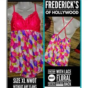 Frederick's of Hollywood Floral Intimate Size XL